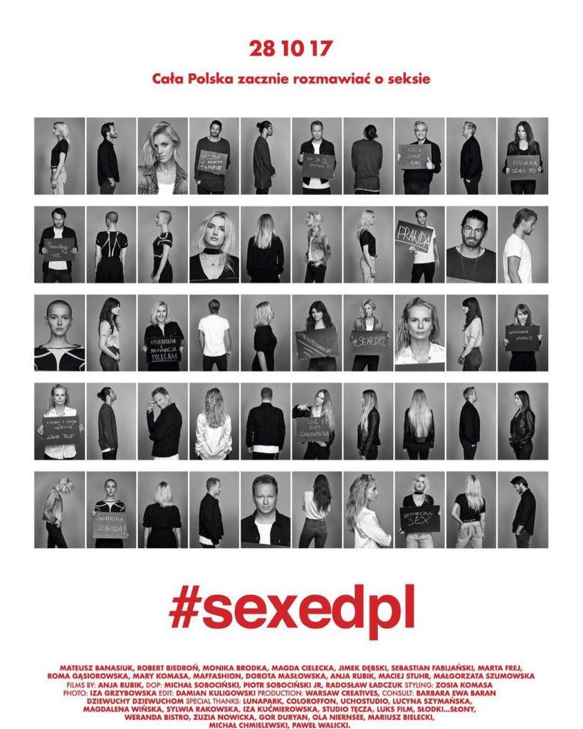 Anja Rubik z polskimi gwiazdami promuje projekt #sexedpl