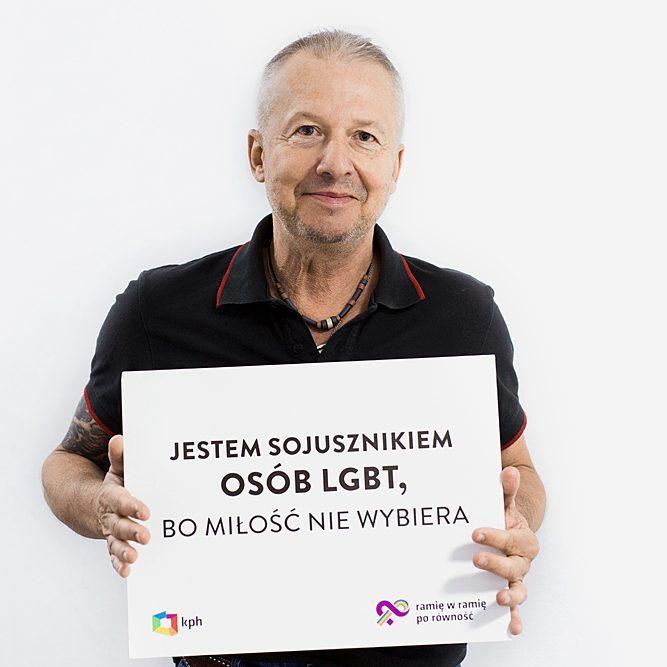 """Bogusław Linda w Kampanii Przeciwko Homofobii """"Ramię w ramię po równość"""""""