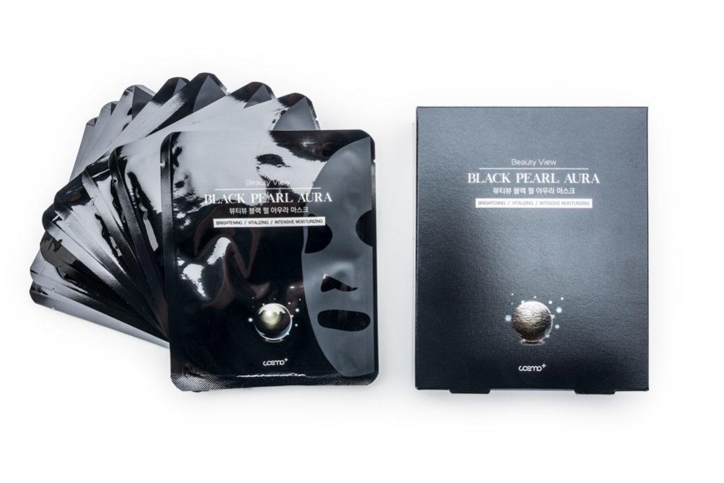 Maseczka w płachcie oczyszczająco- wygładzająca Black Pearl Aura WOWCOSME