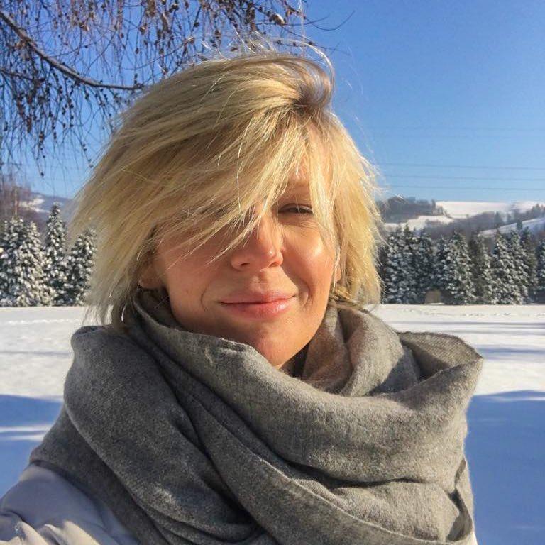 Magda Mołek na zimowym urlopie