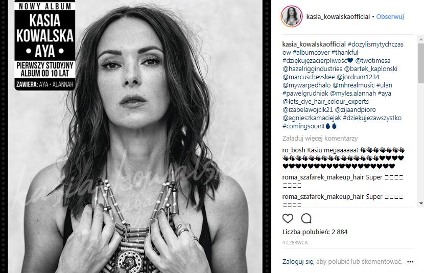 Kasia Kowalska źródło printscreen instagram @kasia_kowalskaofficial
