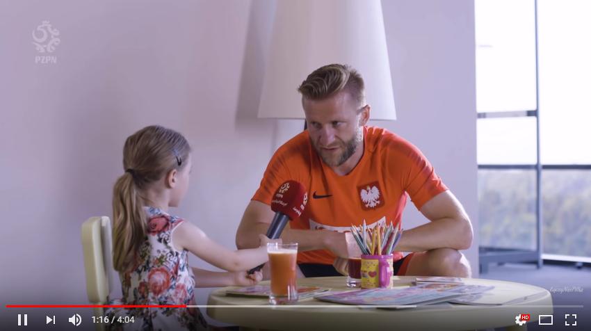 Polscy piłkarze w wywiadzie z Laurą