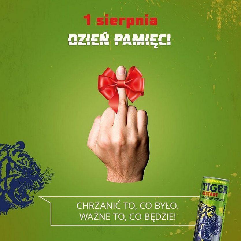 reklama Tiger firmy Maspex