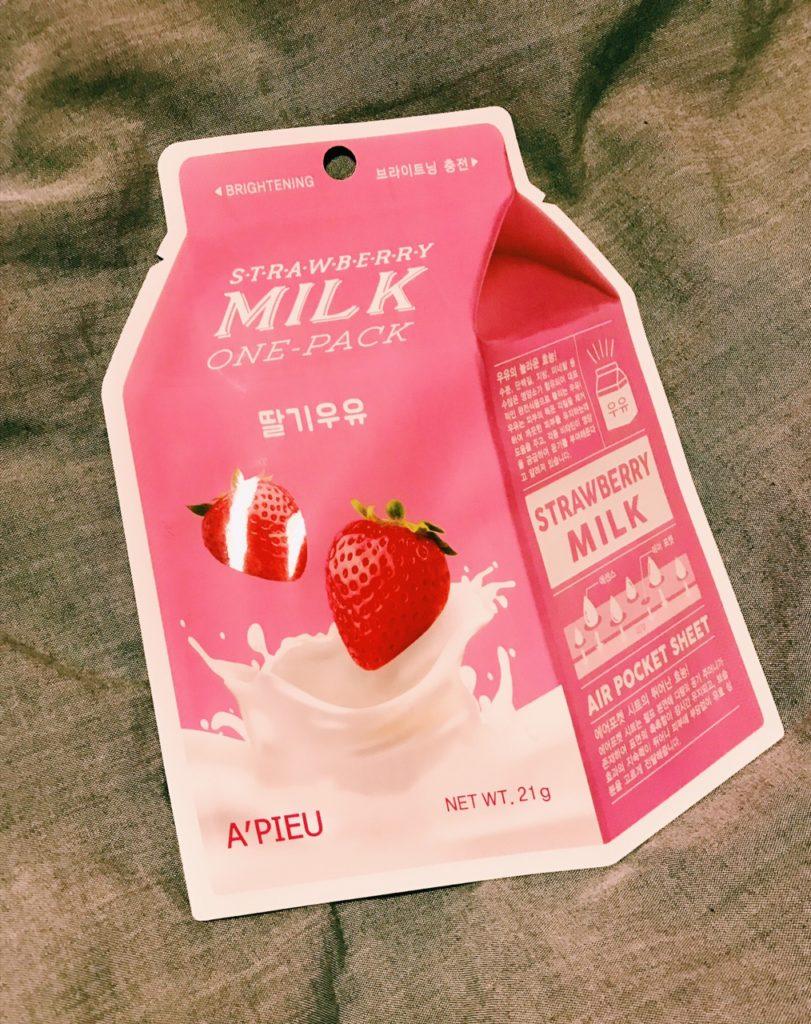 Maska A' pieu Strawberry Milk One- Pack