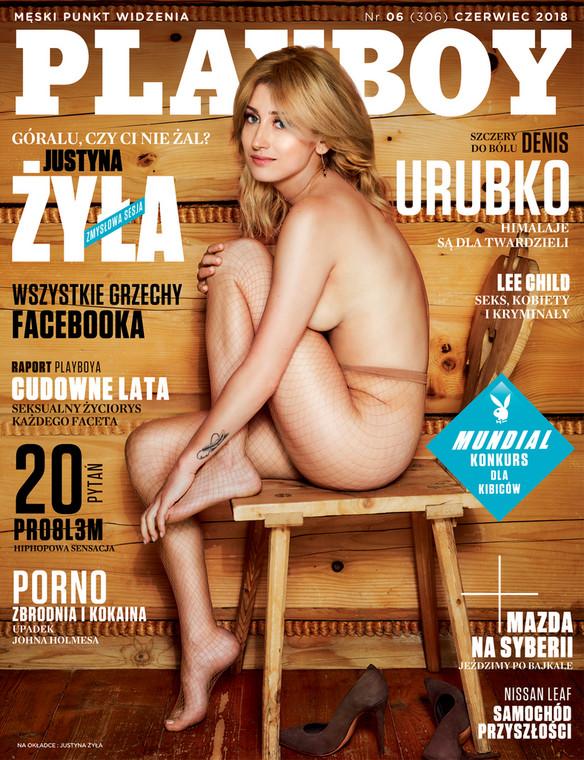 Justyna Żyła na okładce Playboya zdj. Playboy