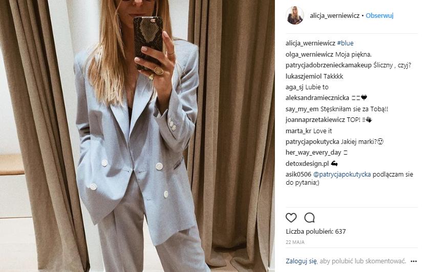 Styliści w Polsce - Alicja Werniewicz źródło instagram @alicja_werniewicz
