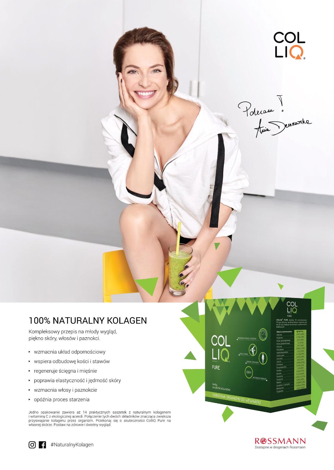 Naturalny kolagen ColliQ reklamuje Anna Dereszowska