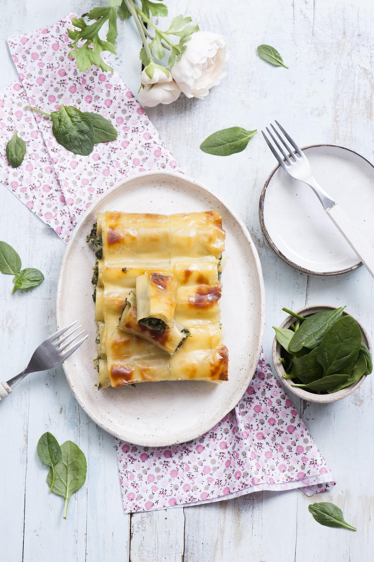 Cannelloni ze szpinakiem i kremowym serem Hochland