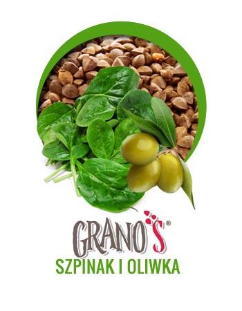 Tarta z Grano' S szpinak i oliwka