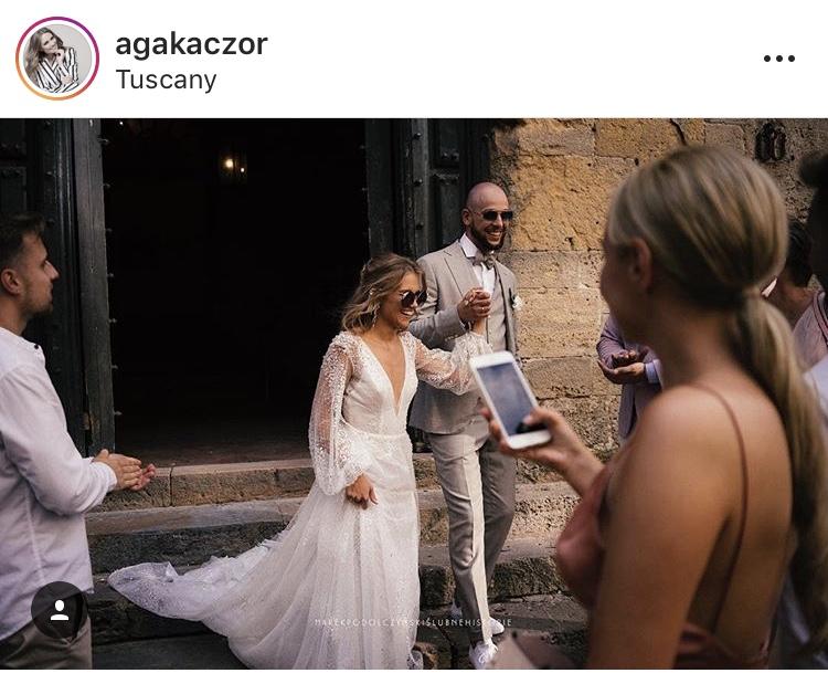 Agnieszka Kaczorowska- Pela i Maciej Pela printscreen instagram @agakaczor