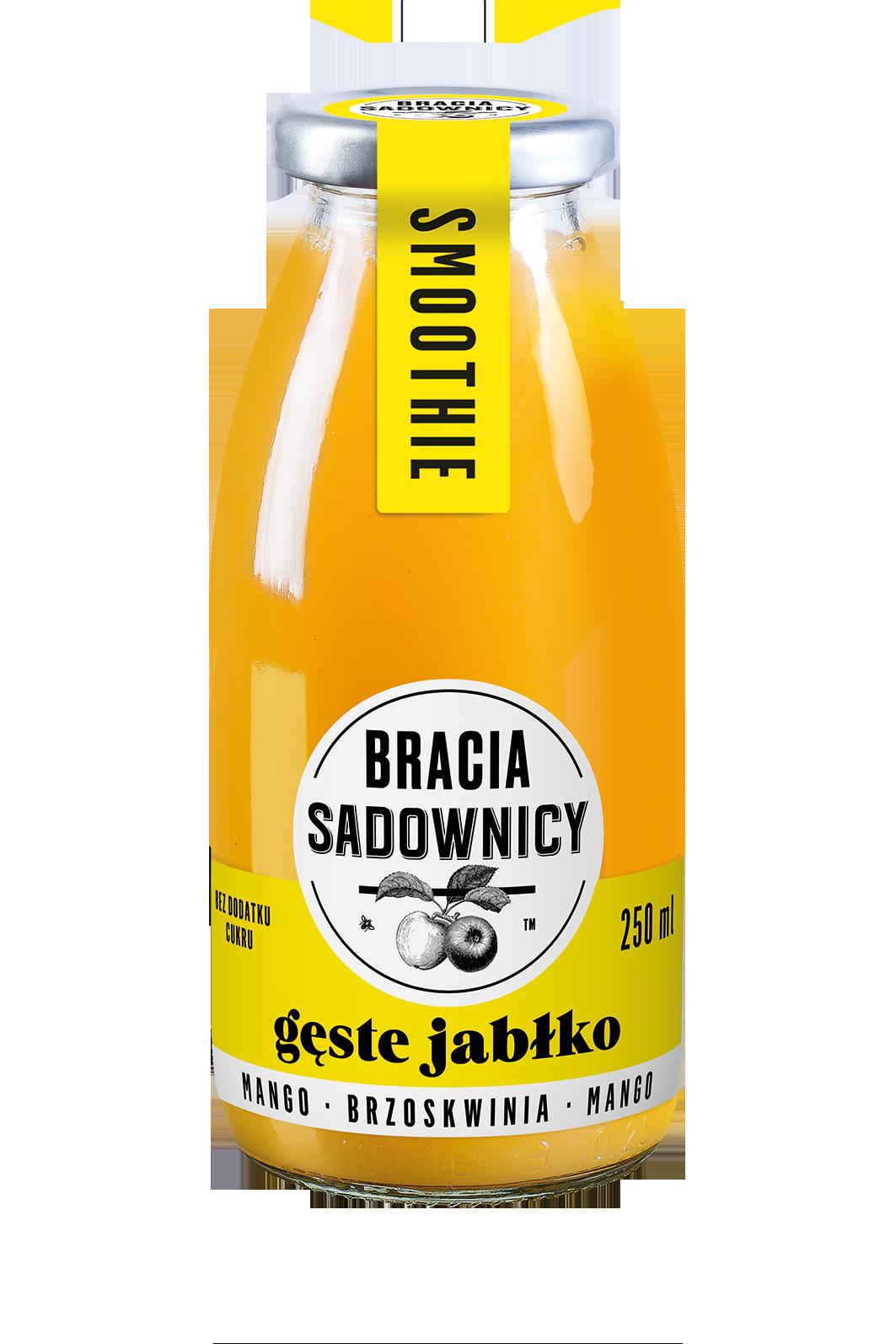 """Bracia Sadownicy """"Gęste Jabłko"""" jabłko - mango - brzoskwinia"""