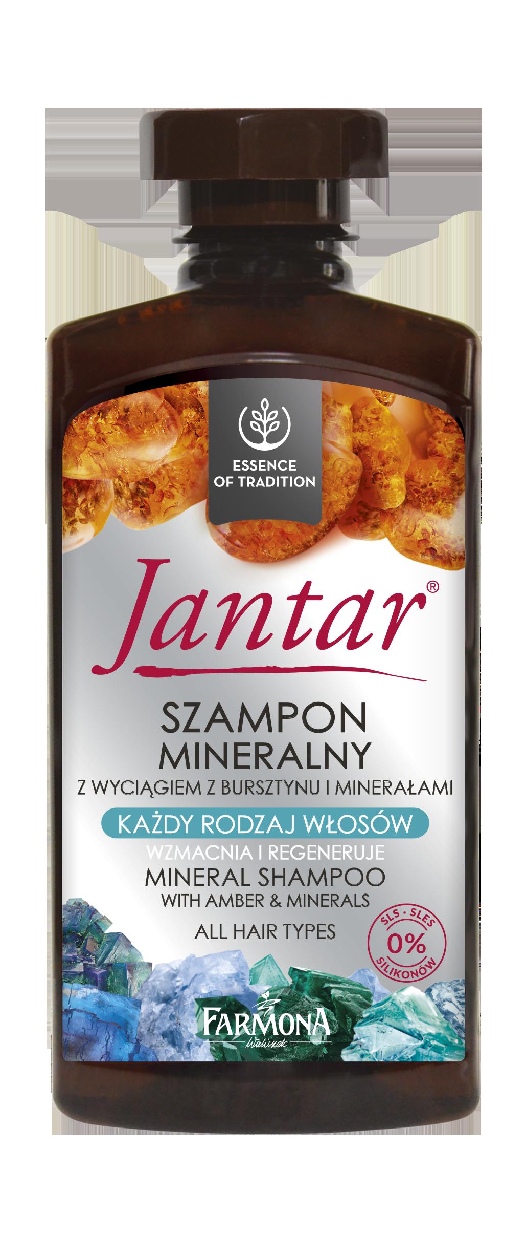 Jantar mineralny szampon do włosów