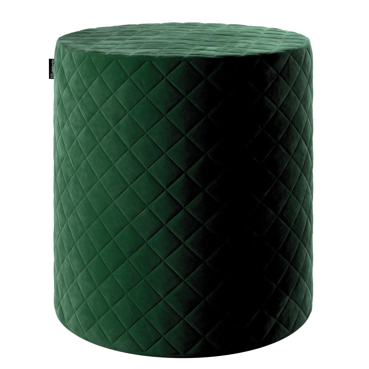 Puff Barrel pikowany jest min. kolorze butelkowej zieleni