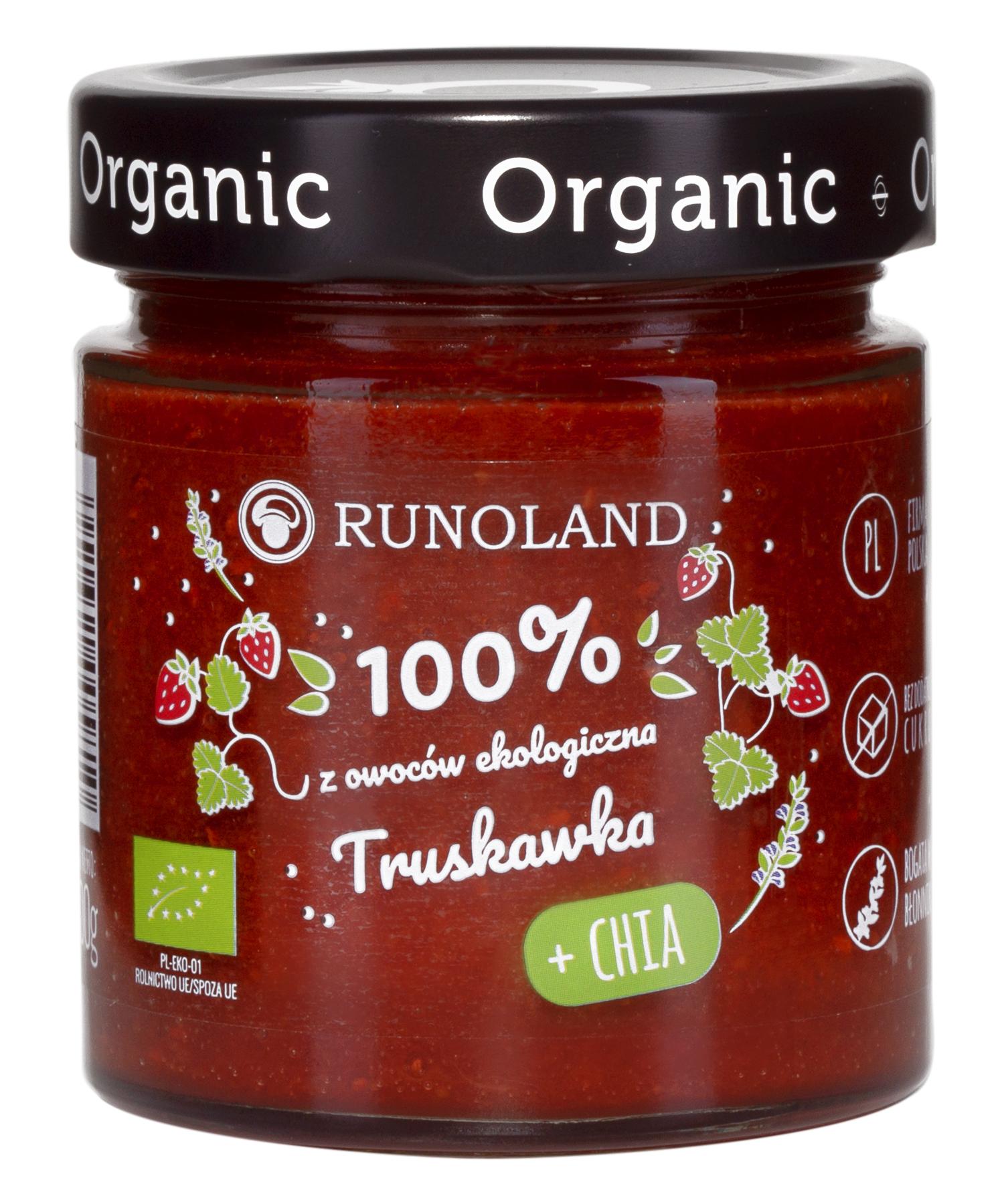 Runoland - 100% ekologiczna truskawka z nasionami chia