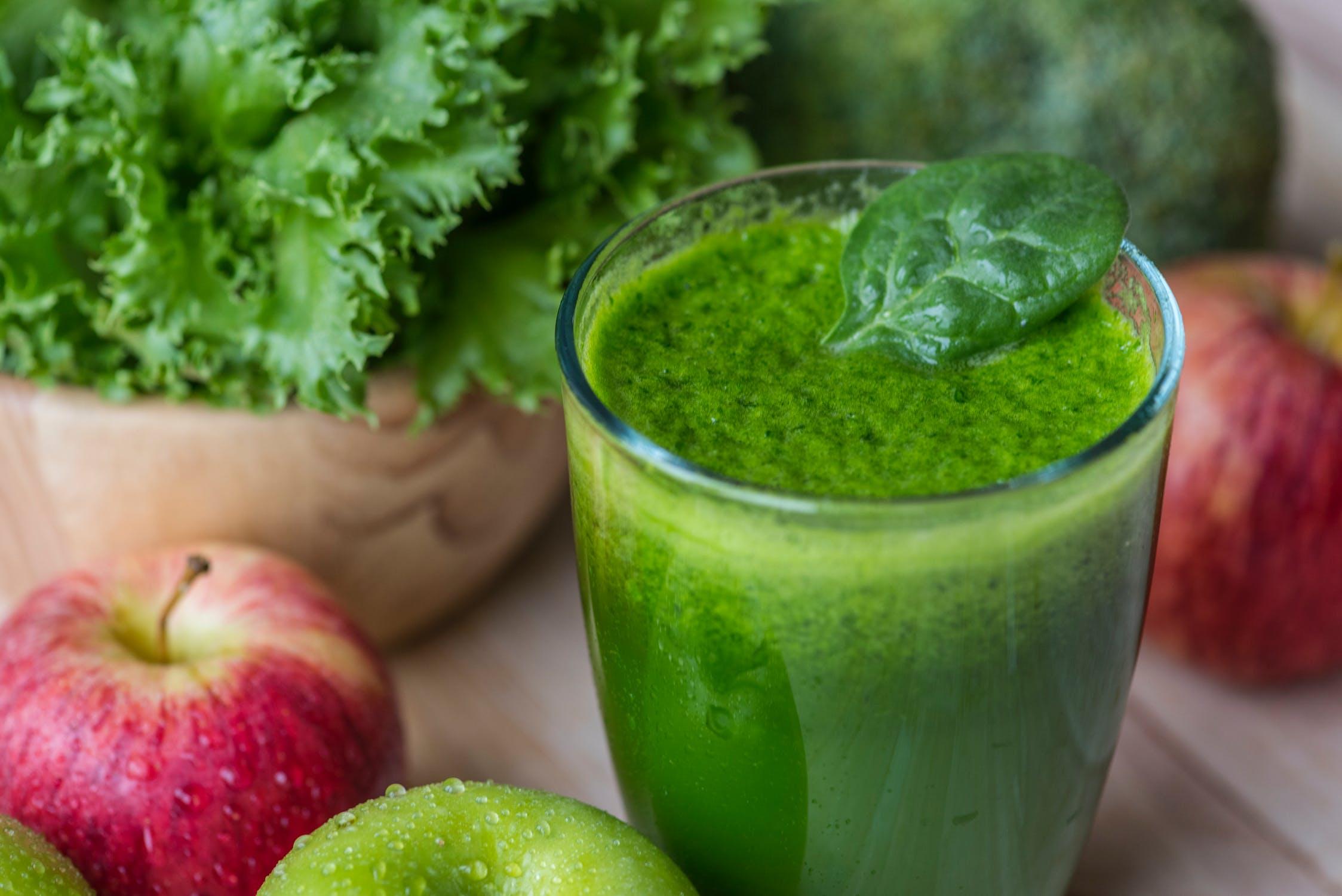 Zielone soki są zdrowe i wartościowe