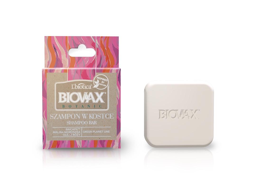Szampony w kostce Biovax Botanic Baicapil, malina, róża