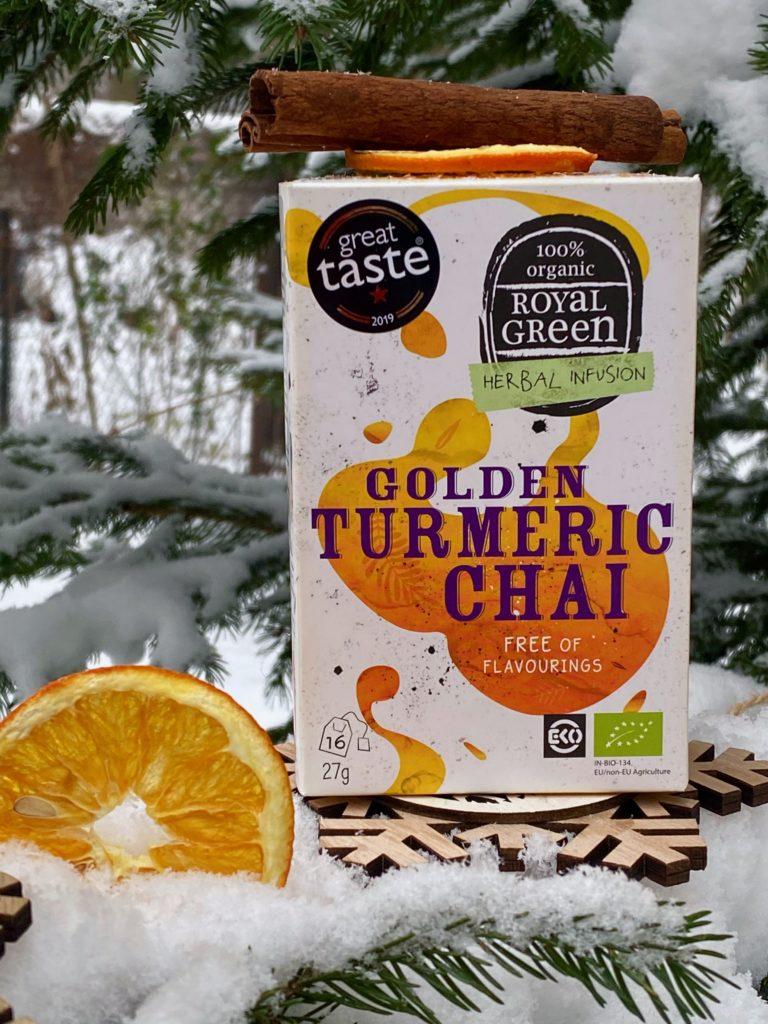 Royal Green Naturals  z Golden Turmeric Chai w Influencer's Top 2021